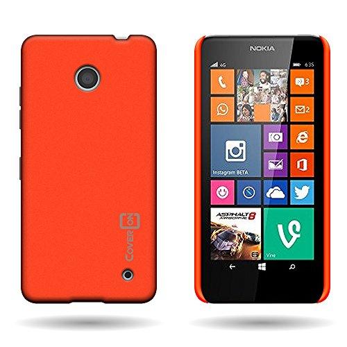 Lumia 635 Case, CoverON for Nokia Lumia 635 Hard Case [Slender Fit Series] Ultra Slim Polycarbonate Back Phone Cover with Matte Non-Slip Grip Coating - (Neon Orange) (Girly Nokia Lumia 635 Cases)