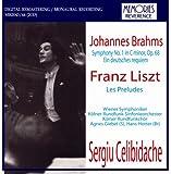 Liszt Les Preludes. Brahms Symphony No.1 (Vienna Symphony/ Celibidache. Rec. 'Live' 10/30/52);