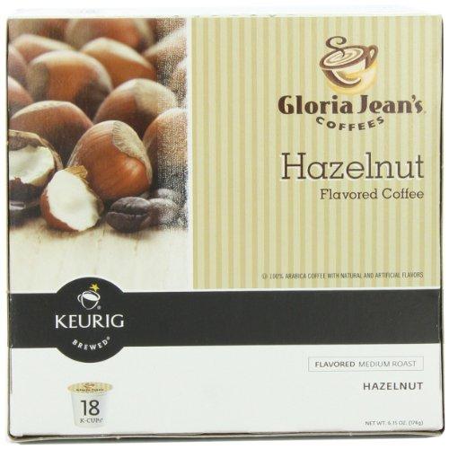 Gloria Jean's Hazelnut Keurig K-Cups, 18 count