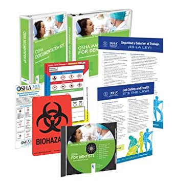 2018 osha package for dental offices including regulations and rh amazon com Corporate Manual Cover osha regulations on manual pallet jacks