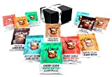 Wild Friends All-Natural Nut Butters 6-Flavor Variety: Two 1.15 oz Packets Each in a BlackTie Box (12 Items Total)