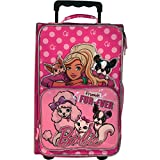 Barbie and Pets ''Friends Fur-Ever'' 18-inch Rolling Luggage with Two Inside Mesh Pockets