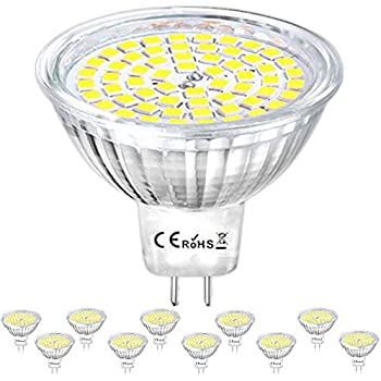 Klarlight LED GU5.3 Bulbs 4 Watt AC/DC 12V MR16 LED Bulb, 35W GU5.3 Halogen Equivalent, LED GU5.3 Warm White GX5.3 Bi-Pin Base 24V GU5.3 MR16 LED Bulbs for ...