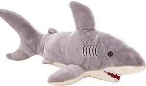 VSFNDB Shark Stuffed Animal Toys 16 Inch Great White Shark Plush Toy for Kids Girls Boys, 16Inches