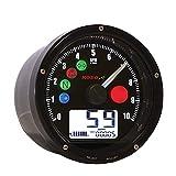 #9: Koso BA035K00 Black TNT-01 Multifunction Speedometer