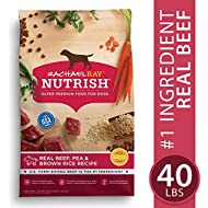 Rachael Ray Nutrish Premium Natural Dry Dog Food, Real Beef, Pea, & Brown Rice Recipe, 40 Pounds