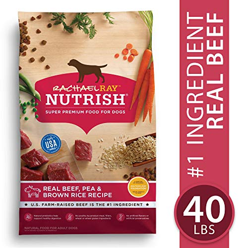 Rachael Ray Nutrish Natural Premium Dry Dog Food, Real Beef, Pea, & Brown Rice Recipe, 40 Lbs (Best Dog Food For The Money)