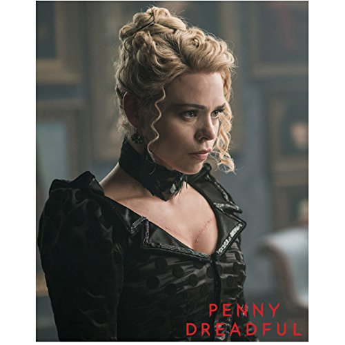 Penny Dreadful (2014 - ) 8 Inch x10 Inch Photo Billie Piper in Black Polka Dot Dress Title in Lower Right kn
