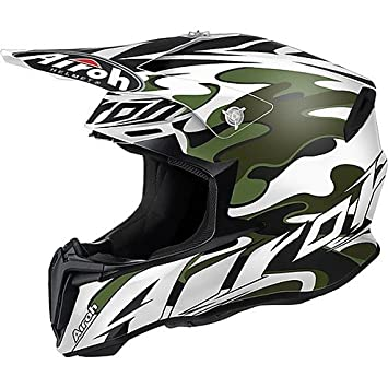 Casco Moto Cross Enduro Airoh Twist 2016 Camuflaje Small