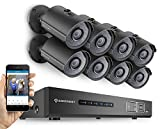 Amcrest ProHD 720P 8CH Video Security System - 8 x 1.0-Megapixel (1280TVL) Outdoor IP67 Bullet Cameras, 2TB HDD, Night Vision, Remote Smartphone Access, Black (AMDV7208M-8B-B) (Certified Refurbished)