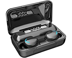 Audífonos Bluetooth - Pesoo Auriculares Inalámbricos Deportivos Mini Sonido Estéreo In-Ear Bluetooth 5.0 Impermeable con Caja