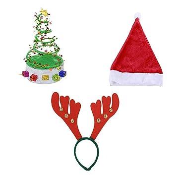 TOYMYTOY 3 Stücke Weihnachten Hüte Weihnachtskostüm Hüte ...