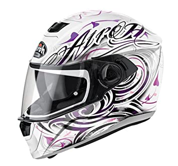 Casco moto mujer Airoh 2018 Storm Poison Blanco Gloss ...
