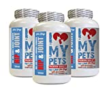 I LOVE MY PETS LLC Old Dog Supplements - Dog Hip and Joint Support - MAX Strength Formula Chews - Dog Liver Support Supplement Chews - 360 Treats (3 Bottles)