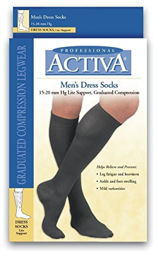 H2562 Sock Dress Activa Sheer Therapy Foot Med 15-20mmhg 7.5-10 Blk Ea by Fla Orthopedics Inc by BSN Medical