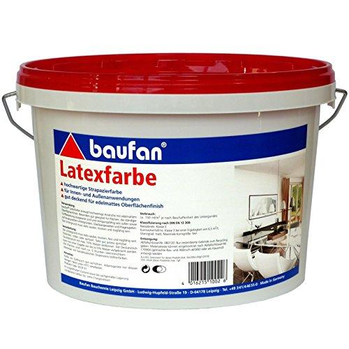 5 Liter Latex-Farbe für innen + außen, hochwertige Strapazierfarbe
