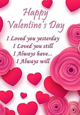 Amazon.com: Día de San Valentín tarjeta de felicitación ...