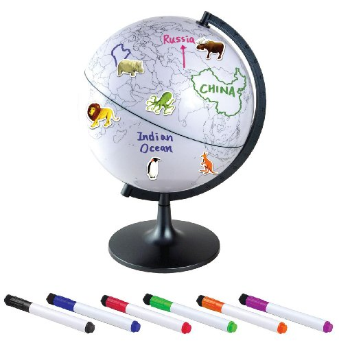 "UPC 769188375293, Edu-Toys 11"" Color My World Globe With stickers"