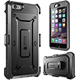 iPhone 6S Case, SUPCASE Apple IPhone 6 Case/6S 4.7 Inch display [Unicorn Beetle Pro] Rugged Holster Cover with Builtin Screen Protector (Black/Black)