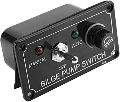 Auto DC 12V 3 Way Bilge Pump Switch LED Indicator Boat Marine Manual Off