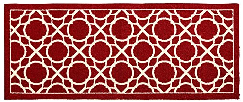 Waverly Square Print (Waverly Treasures Red Perfect Print Trellis Area Rug, 30-Inch x 18-Inch (3.75 Square Feet))