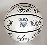 Oklahoma City Thunder 2015-16 Team Autographed Signed White Panel Basketball COA Durant Westbrook