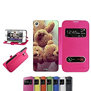 caselabdesigns Flip Carcasa Funda Drei Teddys Bear para Sony Xperia Z3D6683Fucsia–Funda protectora plegable de rosa