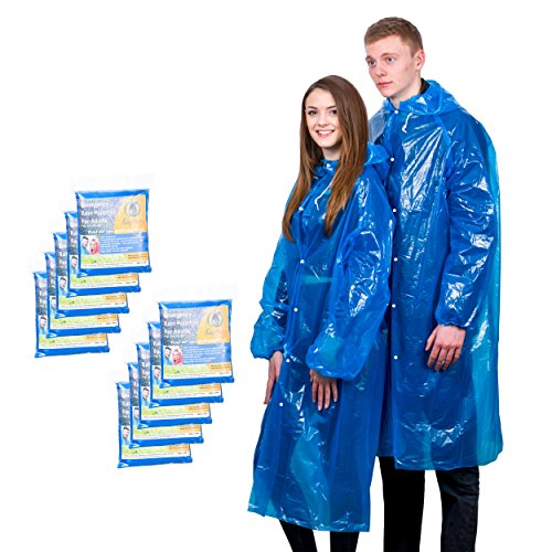 Extra Thick Disposable Emergency Rain Ponchos ~ Premium Quality, Lightweight, Waterproof & Tear Resistant ~ For Hiking, Tours, Sightseeing, Theme Parks, Festivals & More by KeepDry! by KeepDry! (Image #8)