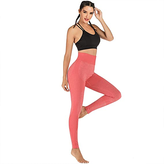 Premium Ultra Soft High Rise Waist Full Length Regular Leggings Tummy Control MILIMIEYIK Yoga Activewear Pants for Women