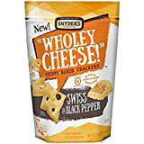 Snyder's of Hanover Wholey Cheese Gluten Free Baked Cheese Crackers,Swiss & Black Pepper 5 oz ( 2 Pack)