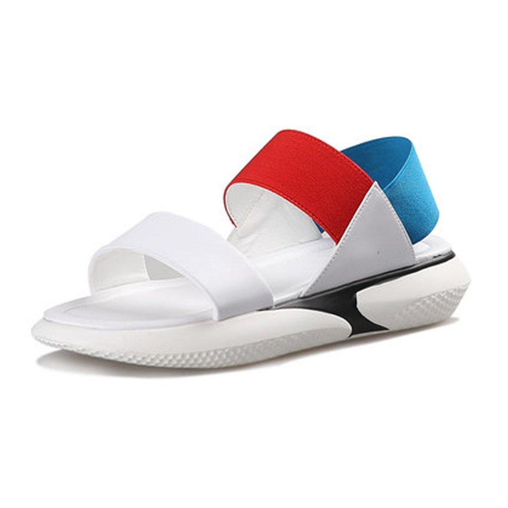 YUBINliangxie Sandalias Ejercicio Plano Inferior Informal Salvaje Harajuku Red Neta Zapatos De Playa Cómodo Ligero 36 EU
