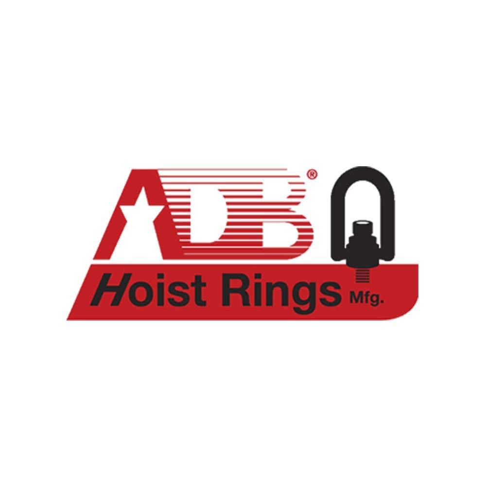 American Drill Bushing 34212 Heavy Duty Swivel Hoist Ring 82mm Height 16mm Thread Length Alloy Steel w// Black Oxide finish G Thread Size M8 x 1.25 400 kg Working Load Limit