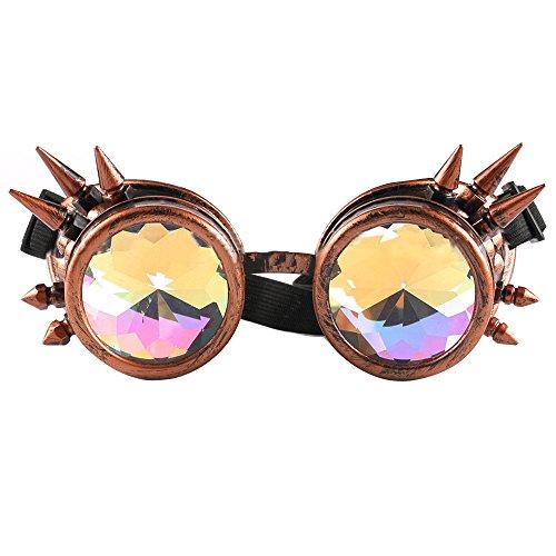Música caleidoscopio Gafas de Festival Dorado mosaico de Gafas Gafas sol de facetadas de Gafas Paseo de facetadaspaseo sol vpaawq