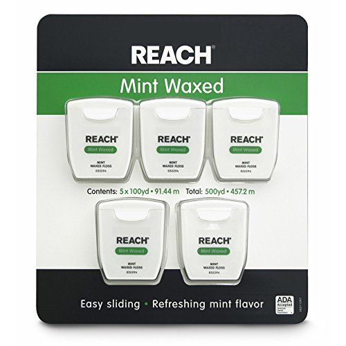 Reach Mint Waxed Dental Floss 100 Yards Per Pack