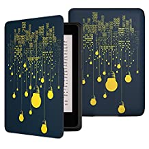 MoKo Kindle Paperwhite Case, Premium Thinnest and Lightest PU Leather Cover with Auto Wake / Sleep for Amazon All-New Kindle Paperwhite (Fits All 2012, 2013, 2015 and 2016 Versions), City Night View
