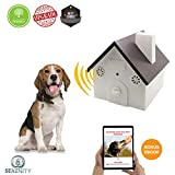 Serenity (New Upgrade Model) Ultrasonic Bark Control Device-Anti-Barking Training Tool - Safe Deterrent Silencer for Yard - Outdoor Sonic Control For Small/Medium/Large Dogs -Up To 50 Feet Effective