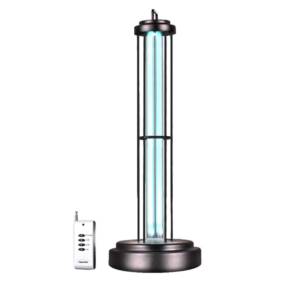 KQJJD UV消毒ランプ空気清浄ランプ、家庭の幼稚園屋内の壁リモートコントロールタイミング除湿滅菌ランプ60W B07GD37R2Y