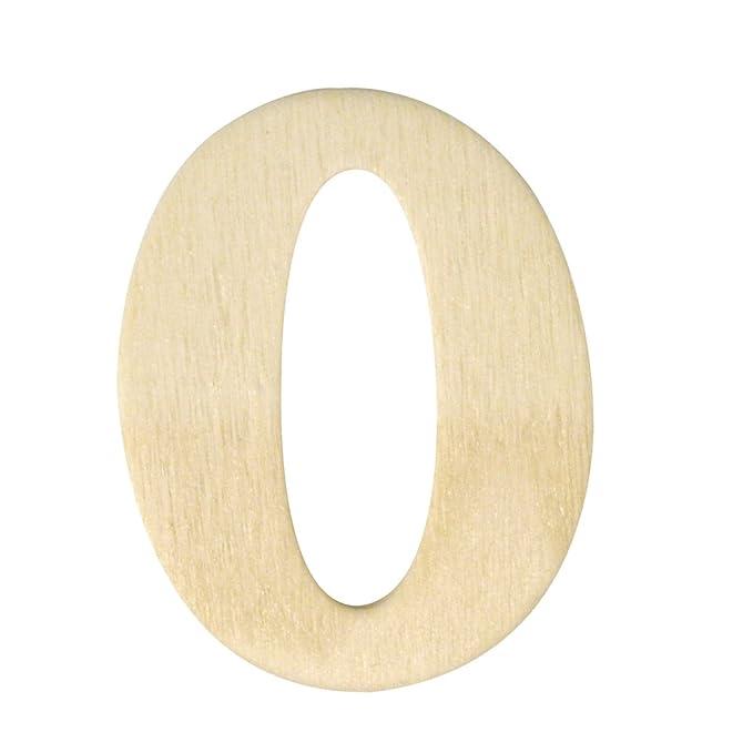 4 cm 9 Rayher 6163400 Holz-Zahlen