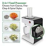 Electric Food Spiralizer Slicer Chopper - 3-in-1