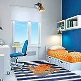 Mohawk Home 12389 416 060096 EC Aurora Little Octopus Anchor Striped Nautical Printed Contemporary Kids Area Rug,5'x8',Blue