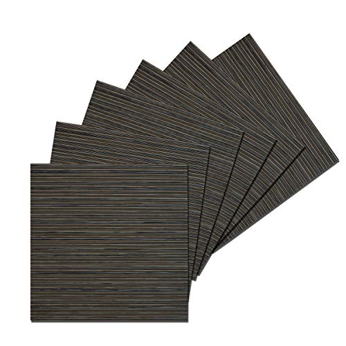 - Benson Mills Cafe Woven Vinyl Placemats (Black/Brown, 14