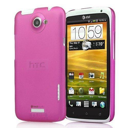 Delgado magenta cubierta duchsichtig caja del teléfono de la cubierta protectora Shell Funda HTC X elegancia moderna y elegante transparente