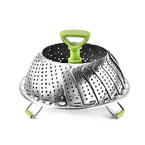 Orcbee  _Steamer Basket Stainless Steel Vegetable Steamer Basket Folding -