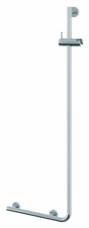 Tiger 299720946 Boston Haltegriff mit Brausehalter, Version links, Edelstahl gebürstet, TÜV-geprüft Edelstahl gebürstet TÜV-geprüft Coram Deutschland GmbH