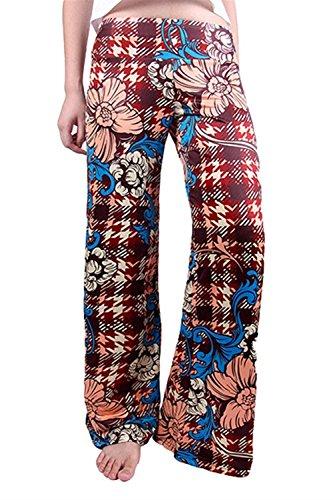 Eté Femme Élégant En Casual Pants Large Décontractée Long Couleur Confortable Impression Haidean Pantalon Tissu Moderne 11 Palazzo Haute Taille wEBqxtgX