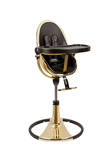 Merveilleux Bloom Fresco Chrome Contemporary Baby High Chair Special Edition   Yellow  Gold Frame Only