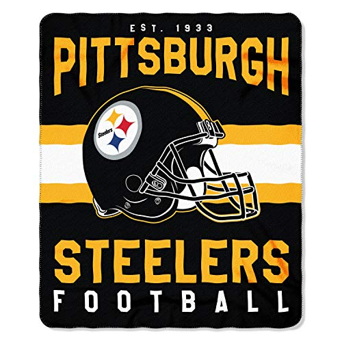 The Northwest Company NFL Pittsburgh Steelers Printed Fleece Throw, One Size, Multicolor
