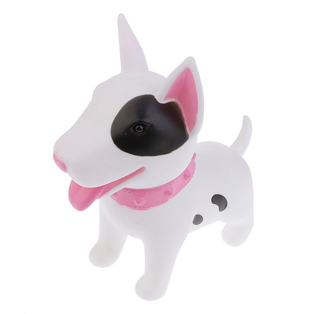 Baoblaze Dog Model Money Box Piggy Bank Coin Children Kids Toy Kids Coin Saving Pot Box -White