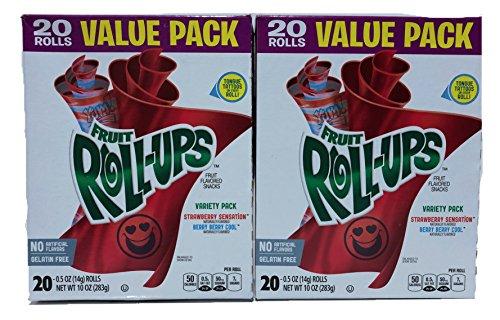 Fruit Roll-Ups Fruit Snacks, Value Pack - Strawberry