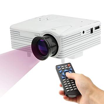 CHANYO proyector portátil, Distancia Ajustable 80 Lúmenes 1080P HD ...